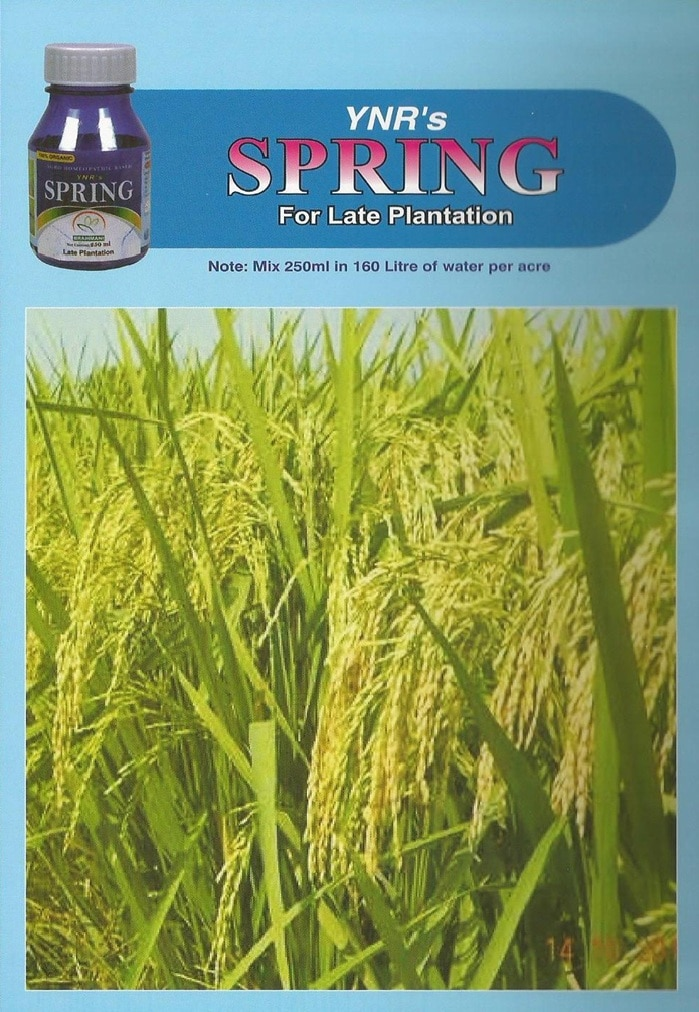 Spring  is a Organic pesticide it is used for Late plantation for all Crops