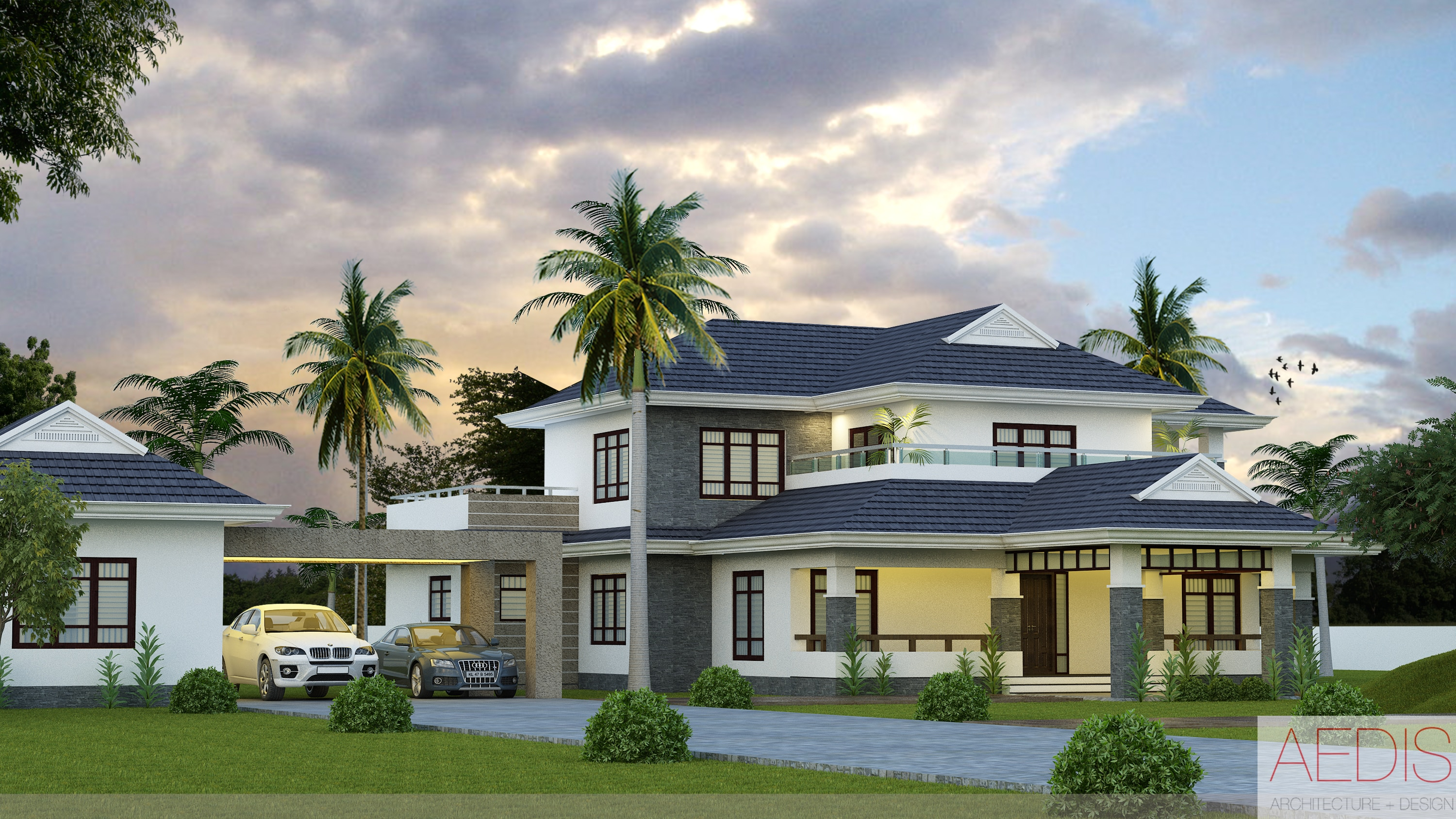 Newly modernized houses with kerala house designs kerala for Traditional house style