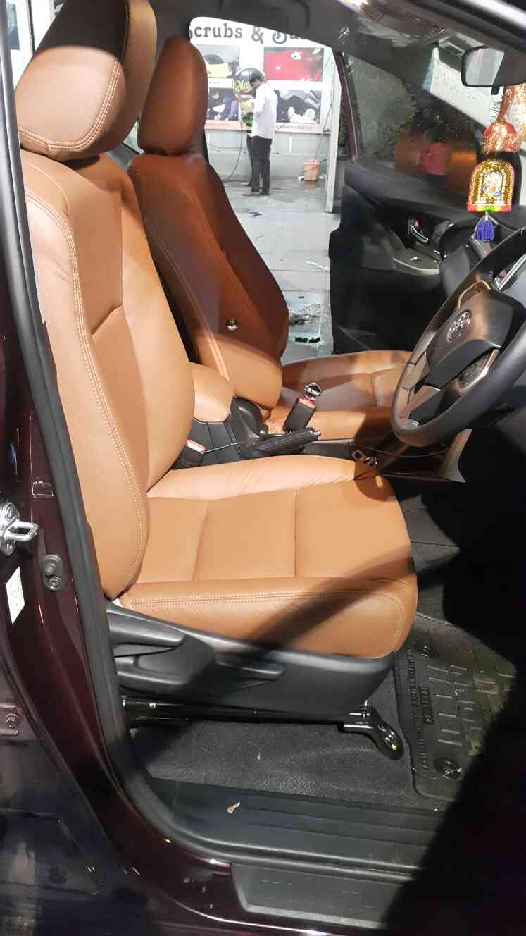 Toyota innova crysta with genuine leather upholstery. .
