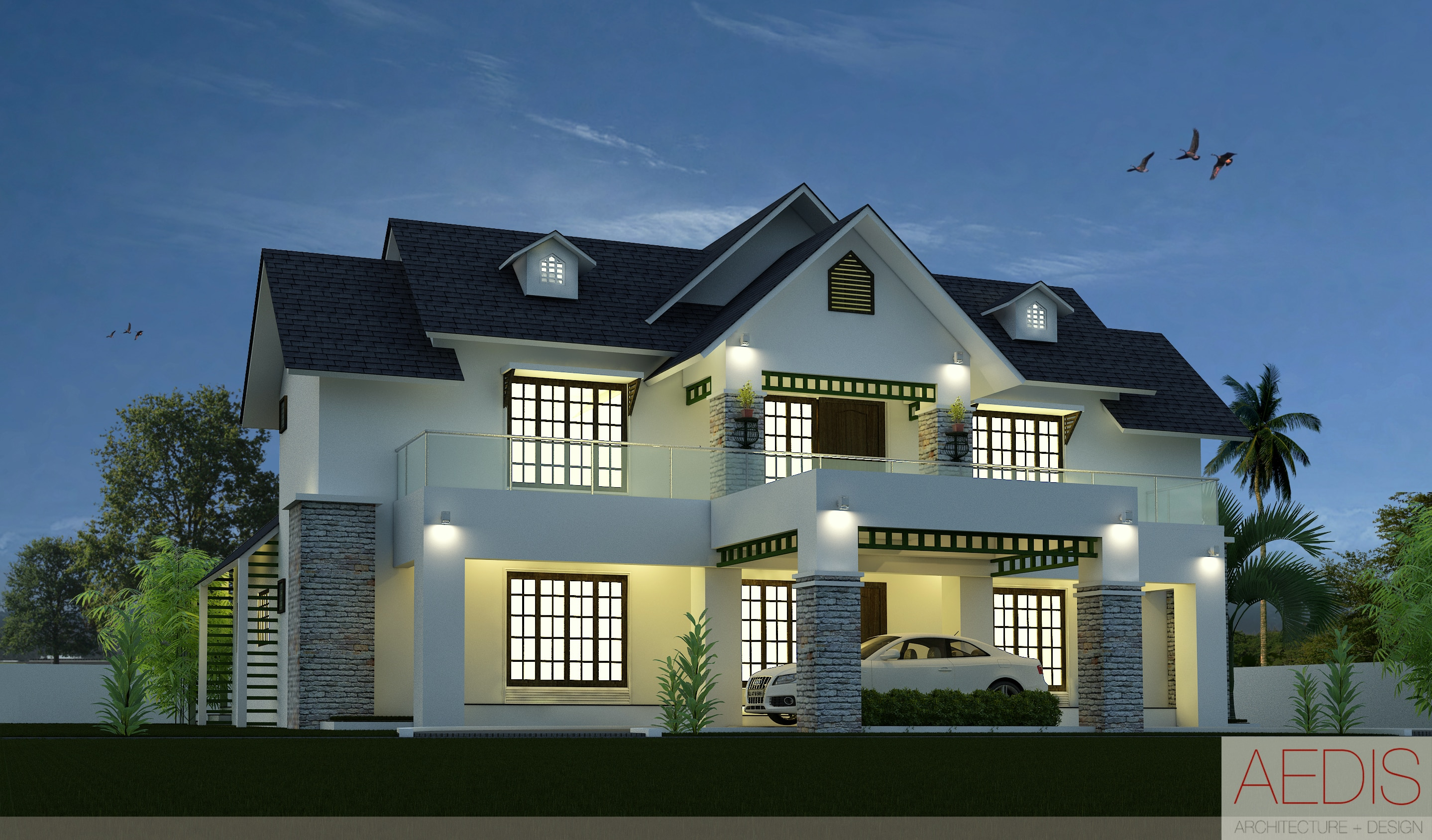 Newly modernized houses with stunning designs like kerala for Kerala home designs contemporary