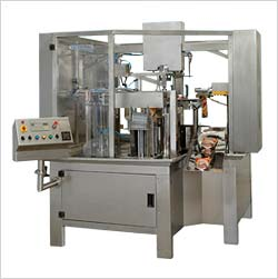 Pick and Fill Sealing Machine Applications  The machine is applicable in packing and filling any type of pouch containing liquid, viscous liquid, semi-solid, powder, grains and many more.   Different filler heads used for filling includes: Multi-Head Weigher, Linear Weigher, Auger Filler, Gravity Filler, Piston Filler and Cup Filler.