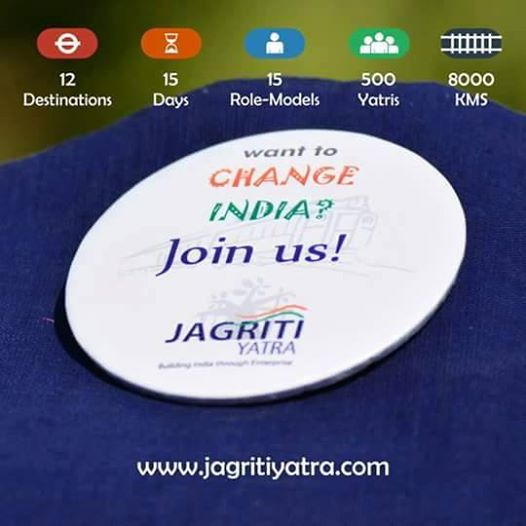 Join the world's largest train journey to promote entrepreneurship. This could change your life! Jagriti Yatra will give you one of the best experience on earth to develop your entrepreneurial skills. Limited Seats, Limited Sponsorship's, Unlimited Opportunities. Apply now- http://goo.gl/LM0Cxy Yarooo Chalooo ! JADE, Jagriti Yatra www.jagritiyatra.com