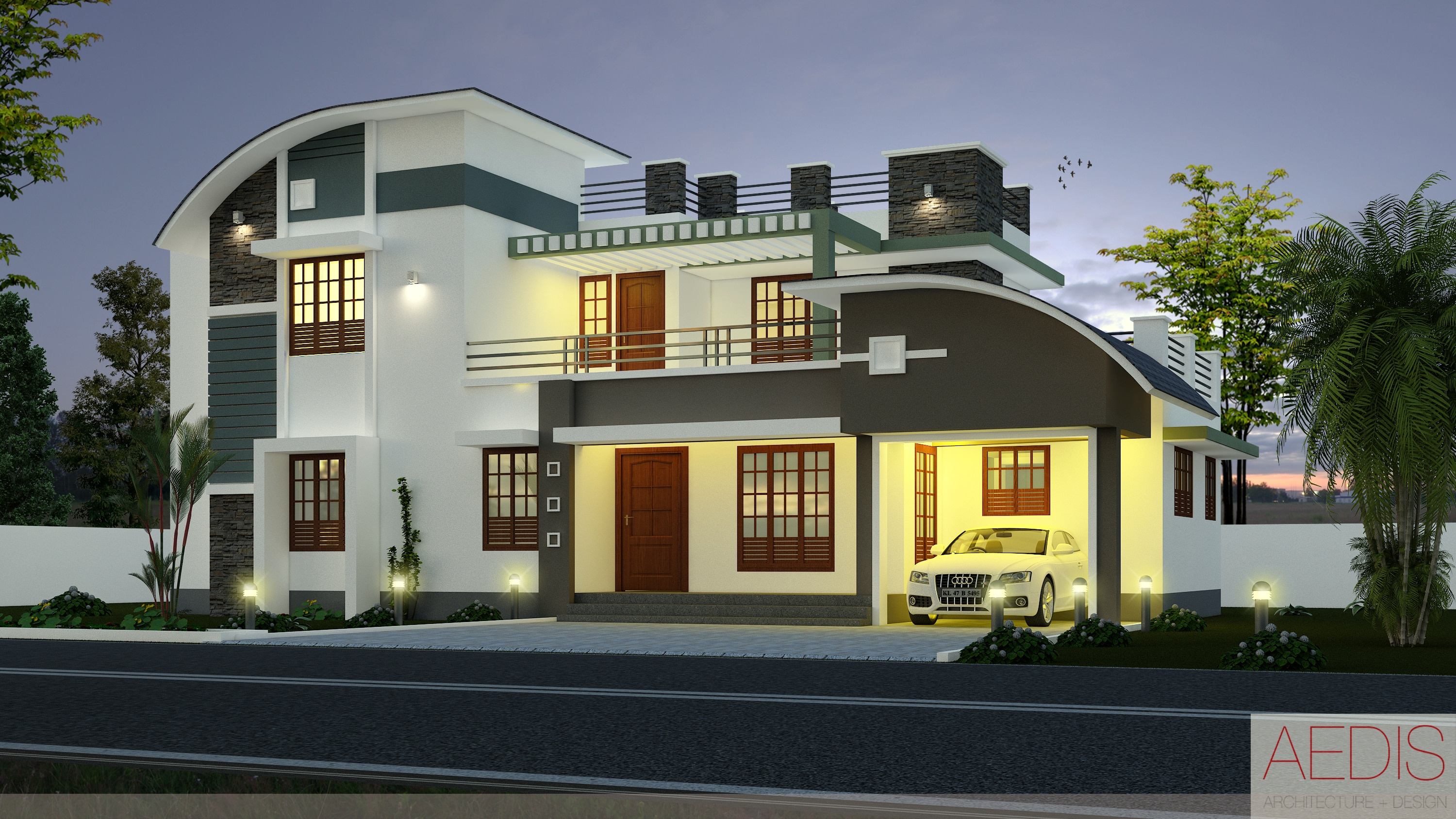 Newly modernized houses with kerala house designs kerala for Contemporary house in kerala