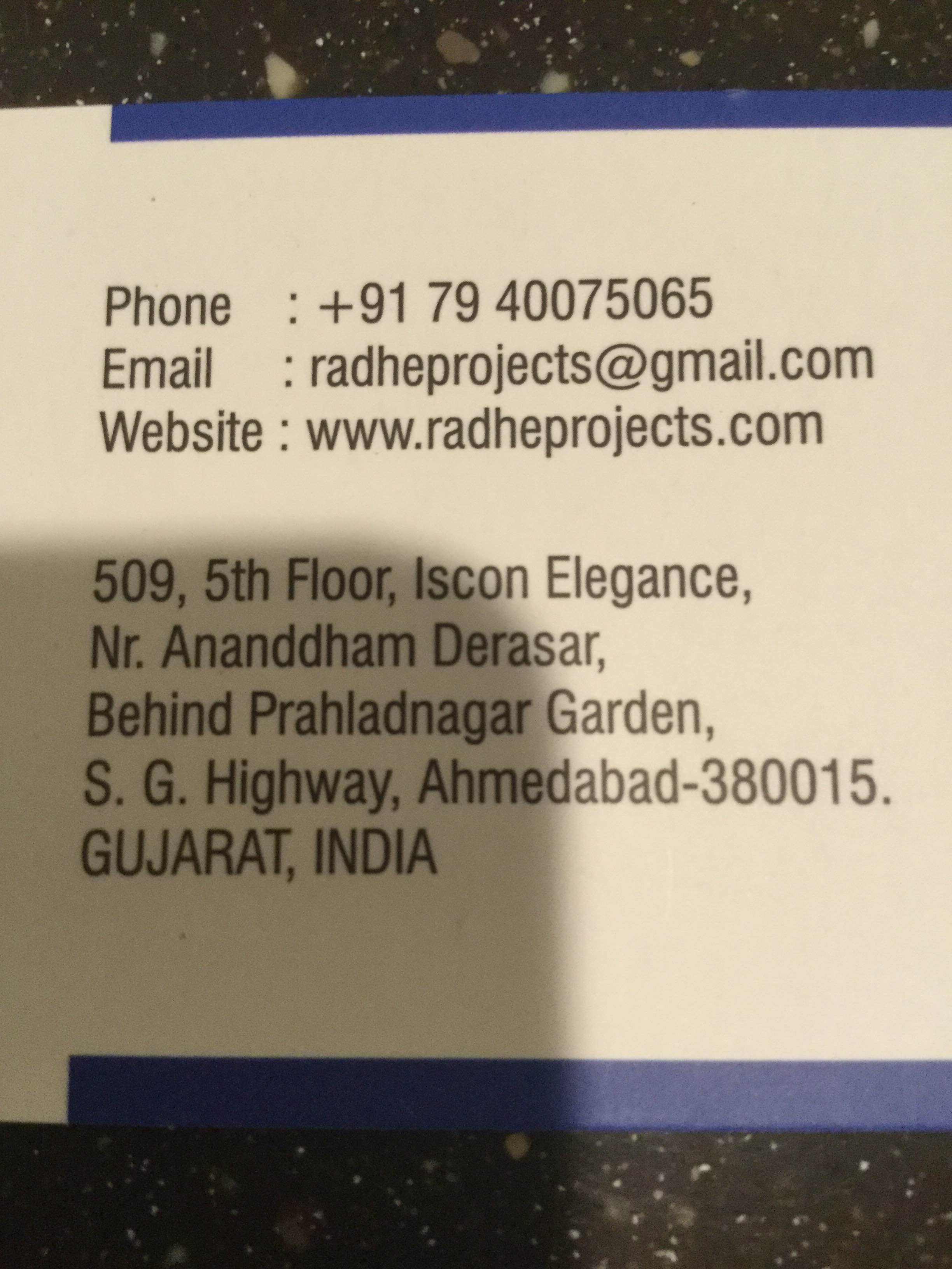 For more information kindly www.radheprojects.com
