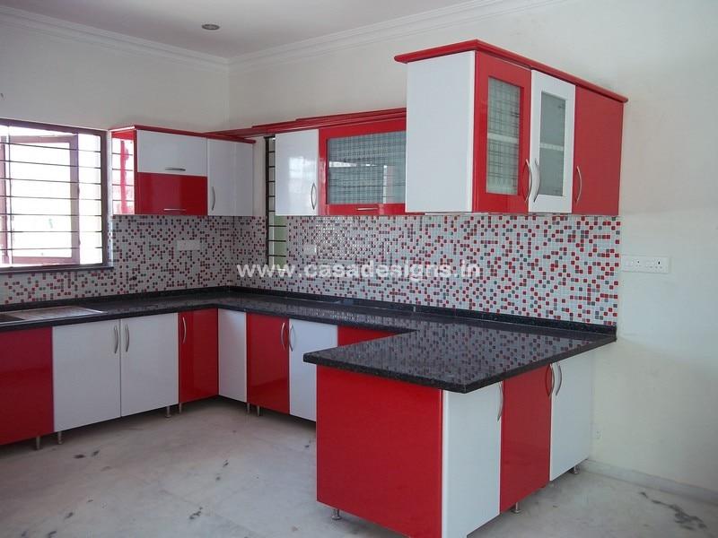 Shape modular kitchens casa designs in coimbatore india for Economic kitchen designs