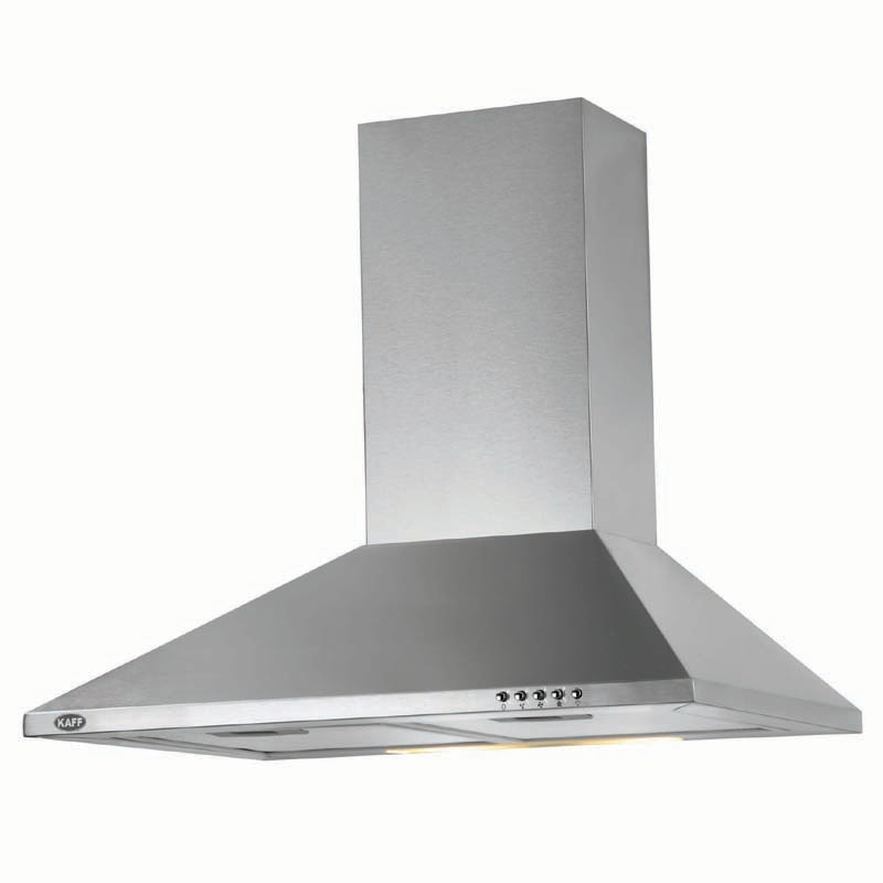 Kaff Kitchen Electrical Chimney In Noida at Sector 18 Noida with Ankur Electrical the one stop shop for all your electrical appliances need for your beautiful home.  Kaff Electric Kitchen Chimney Model Base X 60 the best with the specifications like :   Width: 60 CM ( 600 MM) Suction Capacity: 700 m3/h Air Outlet Ø: 150 MM Noise Level: 59 dbA (Max) Filter: Aluminium Filter Lamps: 2x40 watts Finish: S.steel Conveyor: Controls: Push Control  Call or Visit Today at Store and find the best for your kitchen