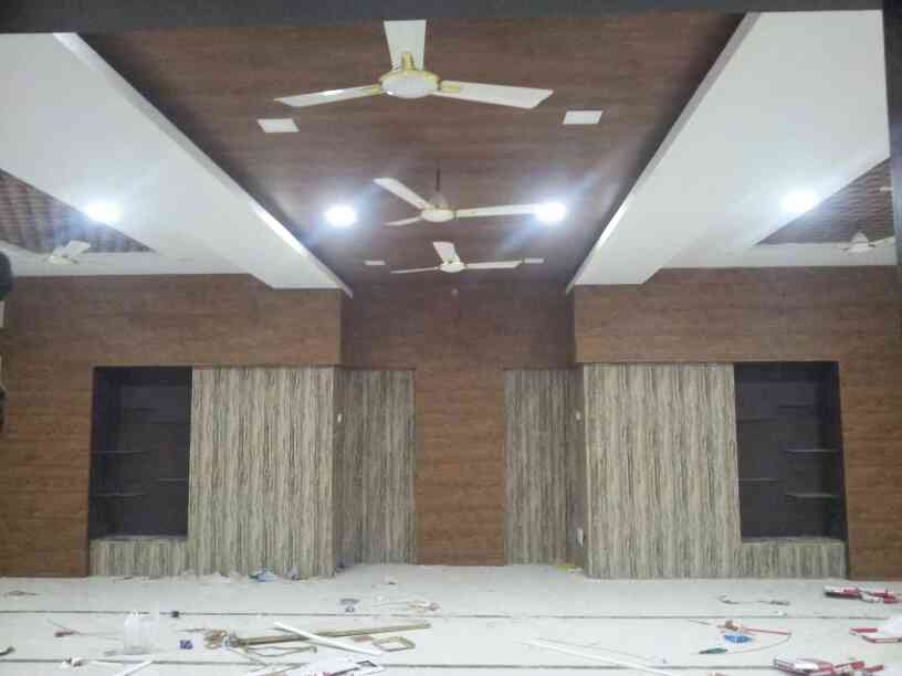 Dario pvc false ceiling and wall paneling work @Trichy Beemanagar mosque