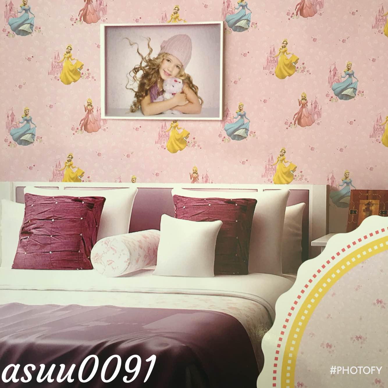 a barbie wallpaper for little baby girl room. this hello baby