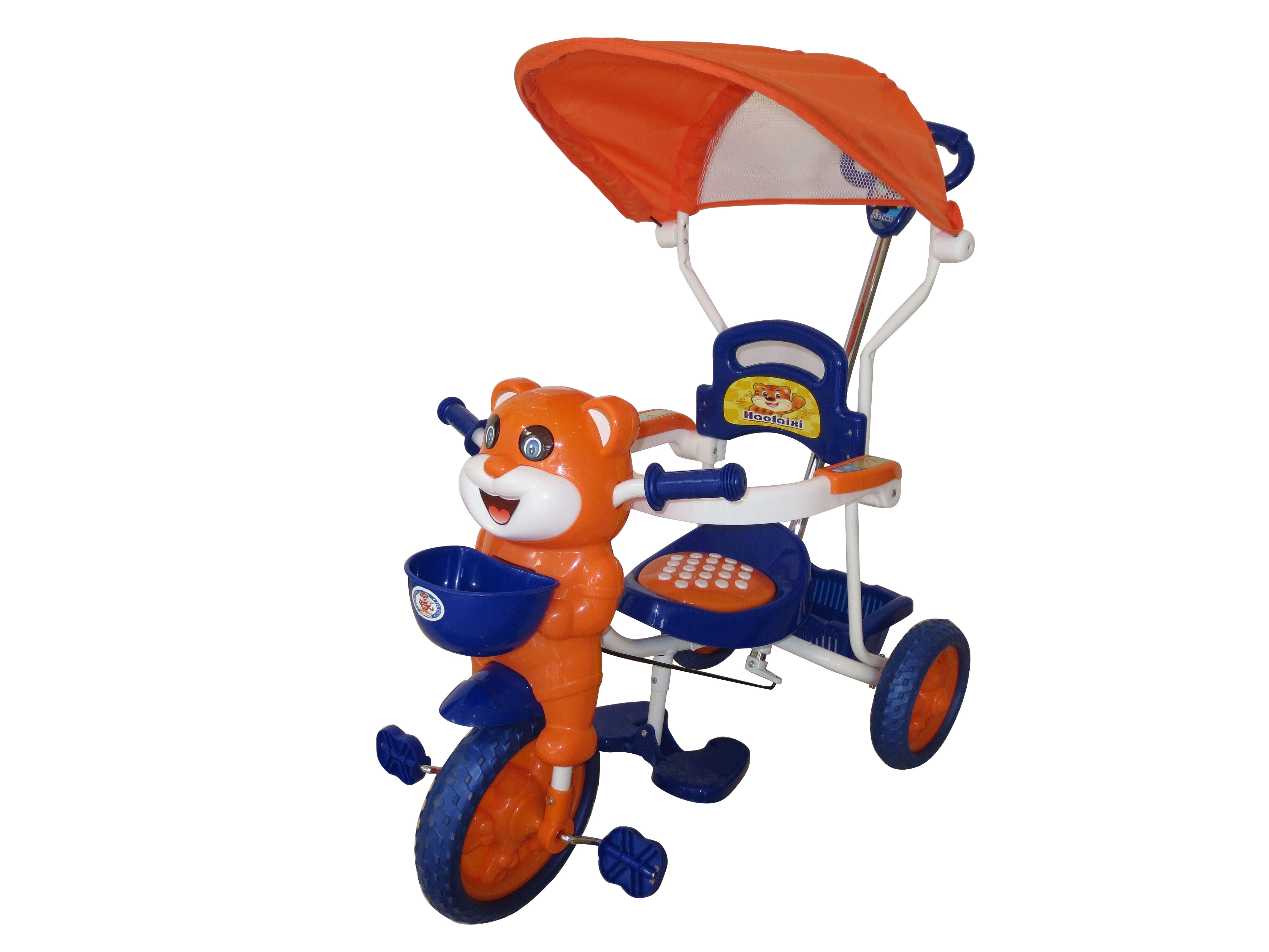 Peachbag proudly presents HLX-NMC HAPPY TIGER KIDS ROCKING TRICYCLE - BLUE/ORANGE (EASY ASSEMBLY EDITION). Best features of this kids tricycle are :  -BUCKET SEAT FOR COMFORT AND SAFETY -BROAD TYRES FOR SAFETY -DESIGNER REAR BASKET -INTERNATIONAL QUALITY AND STANDARD -VIRGIN PVC PARTS -ABSOLUTELY SAFE FOR CHILDREN  To Buy Online http://peachbag.com/index.php/hlx-nmc-happy-tiger-kids-rocking-tricycle-blue-orange-easy-assembly-edition.html