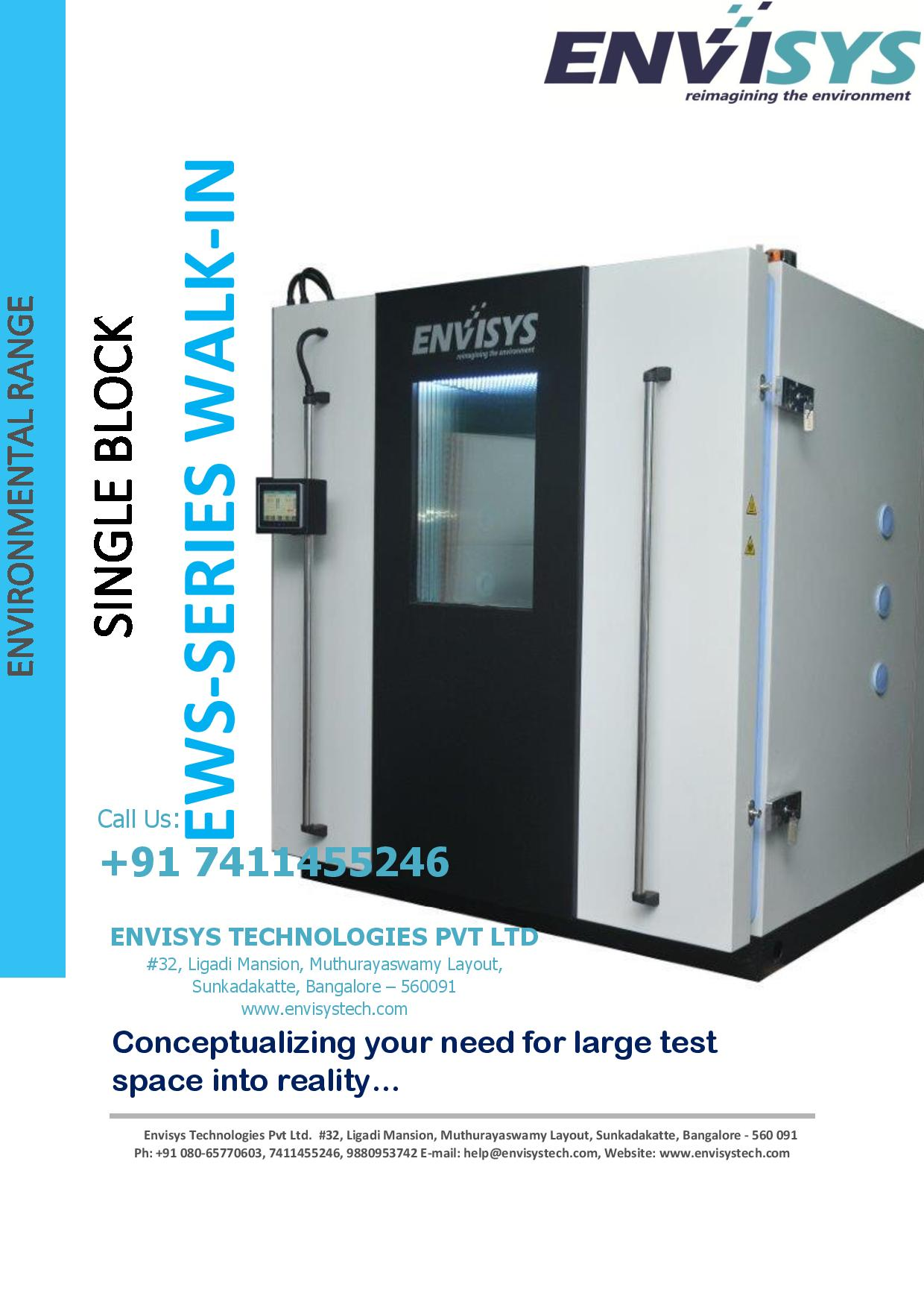 SINGLE BLOCK - WALK-IN ENVIRONMENTAL CHAMBERS Conceptualizing your need for large test space into reality...