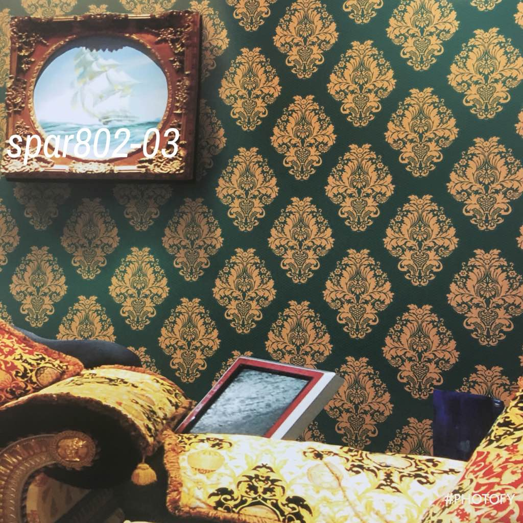 Damask Wallpaper In Pitampura A Design From Sparkle Gold On Dark