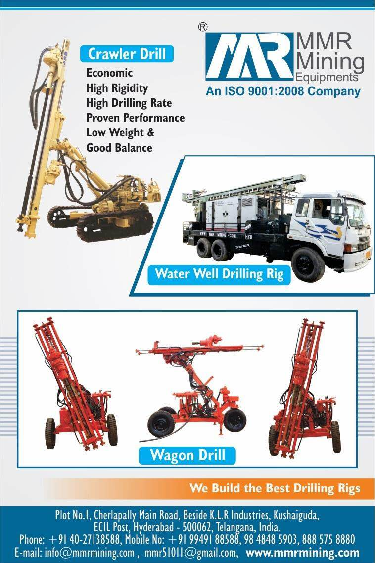 Are you planning to buy special drilling rigs ? If you believe in good quality , then get in touch with us ! WE BUILD THE BEST DRILLING RIGS  For enquiry please vist : www.mmrmining.com Or cal +91 8885758880  Email :- mmr51011@gmail.com
