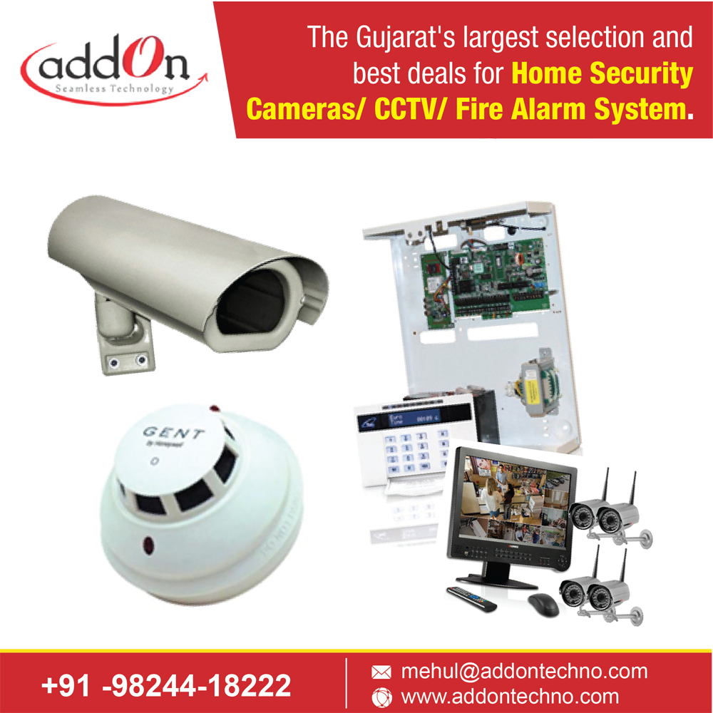 The Gujarat's largest selection and best deals for Home Security Cameras/ CCTV/ Fire Alarm System.  Fire Alarm System Vadodara Home Security Cameras Ahmedabad CCTV Security Systems Surat Surveillance Security System Bharuch  Order Now: http://www.addontechno.com