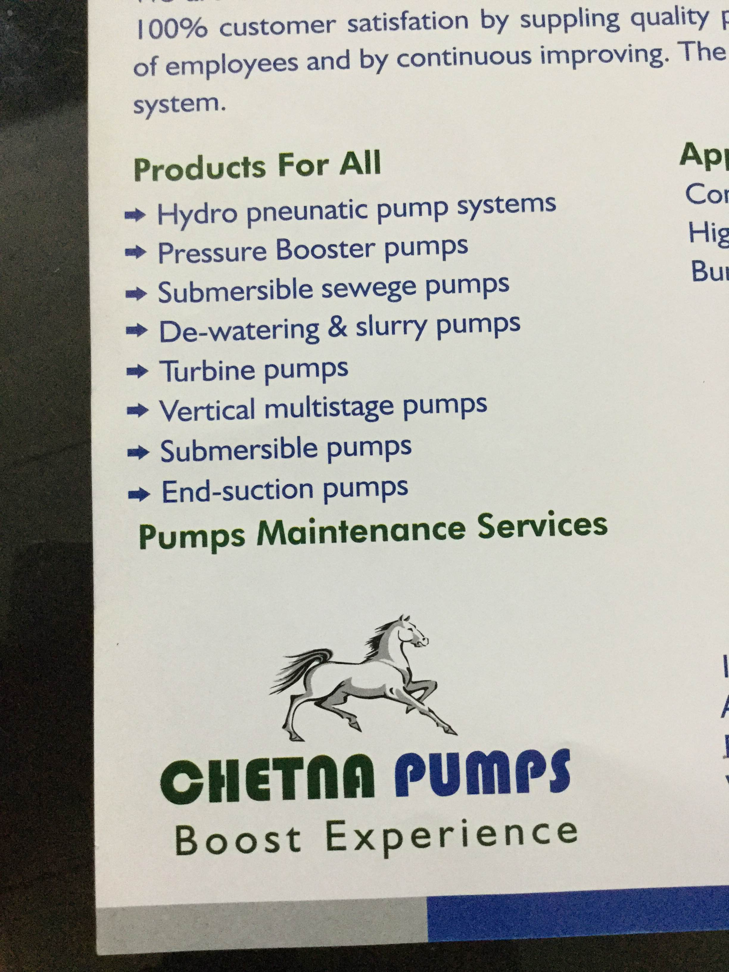 chetna pumps is into quality manufacturing of sewage pump , drainage pump. we are into this industry from past 25 years.