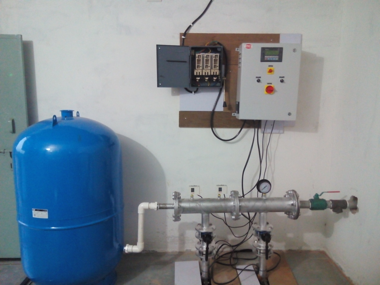 This photos is from our client place where we install hydroneumatic pressure booster system in ahmedabad.  we also had dealership of CRI pump in ahmedabad
