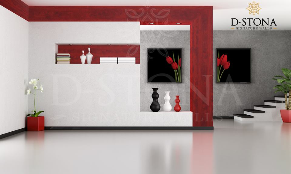 DStona Designer Walls are specially made with colors and materials
