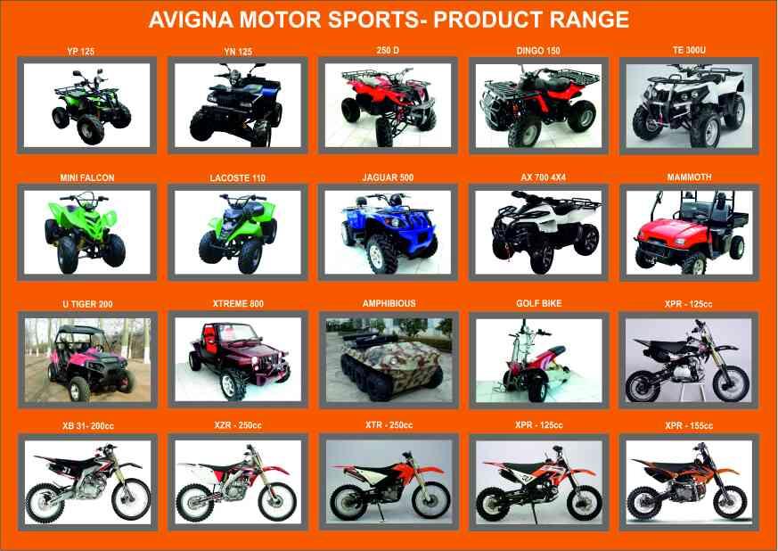 ATV & DIRT BIKES  PRODUCT CATALOG