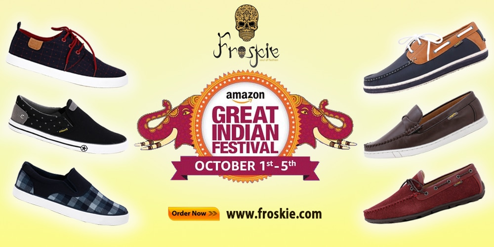 If you find desinger men's shoes online in Rajasthan, India. Froskie provides festival offers on leather shoes, casual, loafers. formal, partywear & many more shoes at amazon with amazing discount. These offer limited on 1 Oct to 5 Oct 2016. Buy now and save money by this offer.....www.froskie.com