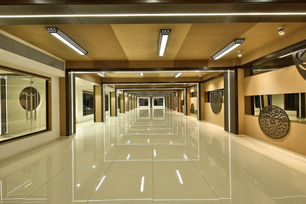Banquet Hall of approx 5000sq ft lit up with LED Profile Lights. Location Vadodara.