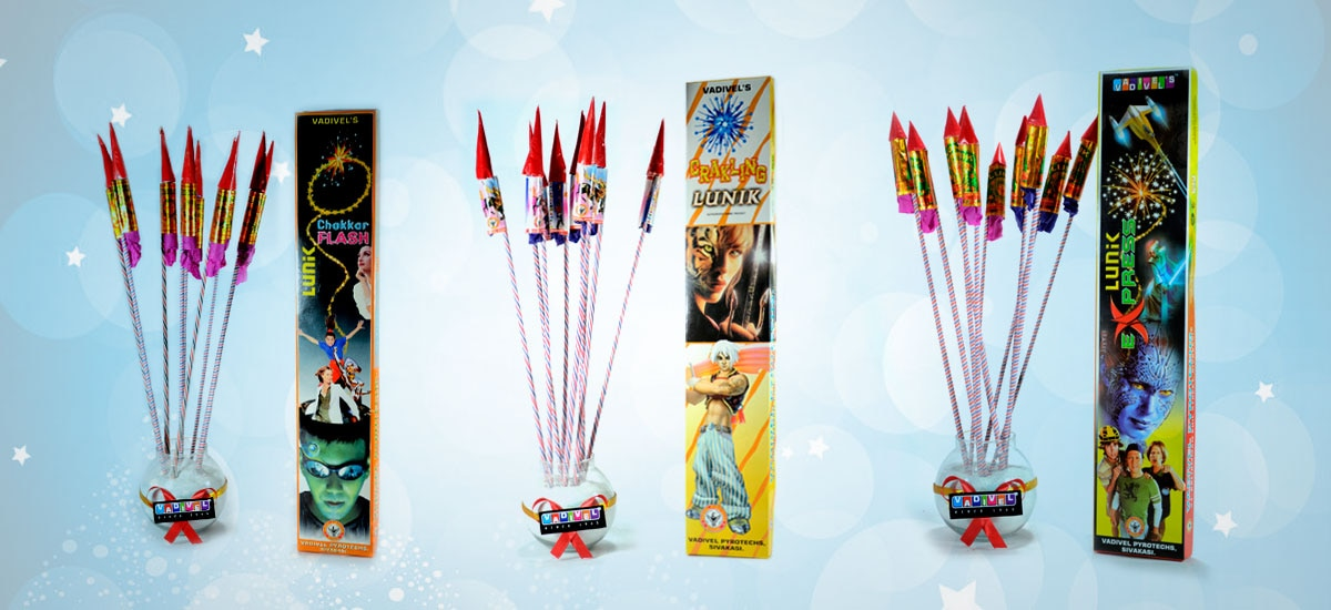 Vadivel is the leading online Crackers franchise of Vadivel Fireworks - One of the top and oldest fireworks brands. Our shop is located at Sivakasi and we ship the fire crackers to our beloved customers directly from Sivakasi at cheaper prices.     Online Shopping www.shopvadivel.com