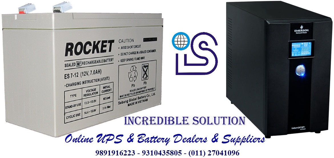 Power is essential requirement for any business or enterprises and power back up also is an essential requirement because every electrical equipment is operates by power then what happen when power is gone suddenly equipment has chance to going to damage then power backup is compulsory for any electrical and electronics products. Uninterruptible Power Supply (UPS) is an only option for power backup. UPS has made inroads into the households worldwide also due to its immense utility and ease of use. We are authorized partner with MNC Brand. We also interested to do AMC of  Emerson ups in Noida.