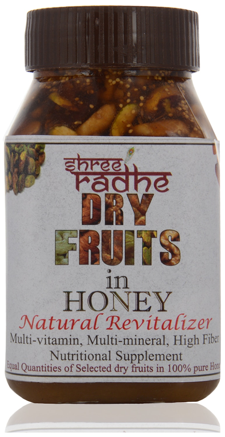 DRY FRUIT WITH HONEY THE BEST DIWALI GIFT  We offer Dry Fruit Honey. It is hygienically processed using high quality walnuts, pistachio, almonds, raisins, fig and cashew selected, cleaned, chopped and dispensed in natural honey (We add equal quantity of each dry fruits). It is highly safe and useful for all kind of weakness. . Because of high quality we cant offer competitive rates.  Available Packing:  •500 gms  Features:  •Premium quality dry fruits  •Pure & natural honey    Tuesday   4 October, 2016   11:11 AM preview   DRY FRUIT WITH HONEY THE BEST DIWALI GIFT. YOUR REQUIREMENT PL. CONTACT US.                                         We offer Dry Fruit Honey. It is hygienically processed using high quality walnuts, pistachio, almonds, raisins, fig and cashew selected, cleaned, chopped and dispensed in natural honey (We add equal quantity of each dry fruits). It is highly safe and useful for all kind of weakness. . Because of high quality we cant offer competitive rates.  Available Packing:  •500 gms  Features:  •Premium quality dry fruits  •Pure & natural honey
