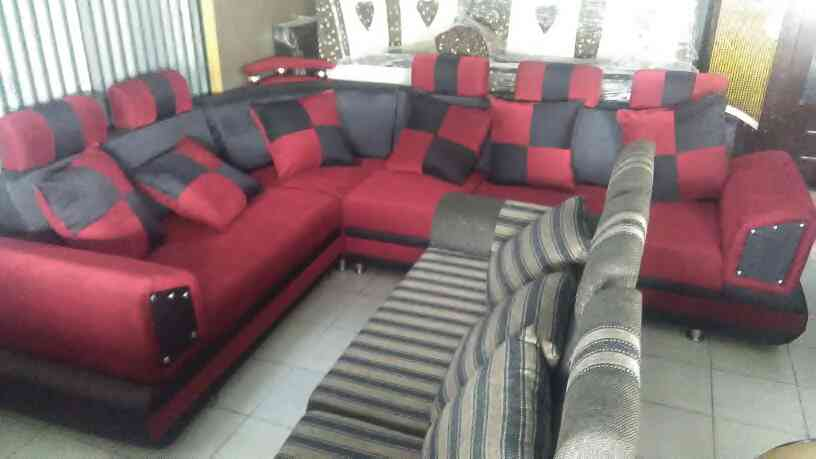 Red corner sofa with best quality at best rates in Vadodara.  sofa manufacturer