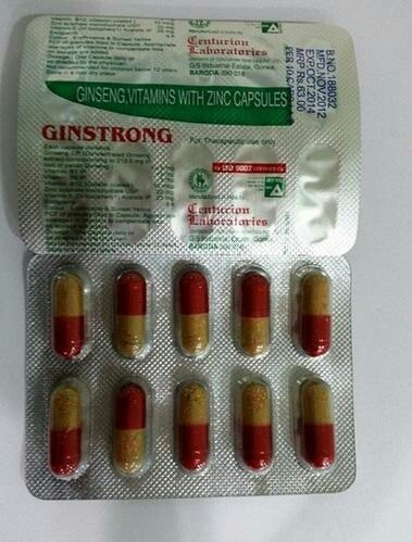 Ginseng And Vitamin Capsules  We are offering of Ginseng and Vitamins Capsule.  Other Information:  Item Code: GINSTRONG  We are located in Vadodara, Gujarat, India.