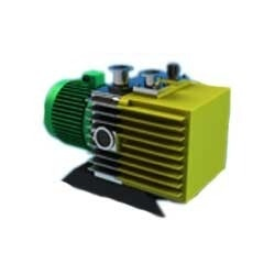 Rotary Vane Vacuum Pump Our clients can avail from us, Rotary Vane Vacuum Pump, which are manufactured using quality parts & components through advanced technology. The high capacity motor that we use in these pumps is coupled via flexible coupling. Smooth and quiet running operation is ensured by the special construction of this coupling and the use of quality tested material. Some of the major applications lie in metabolizing, distillation, filtration, impregnation, forming, refining, filling, purification, vacuum heat treatment, melting, crystallizing, electron beam welding, R & D centers, nuclear & space applications.  Technical Specifications:      In the pump cylinders, the rotor is mounted eccentrically.     The three radially sliding vanes divide the pump chambers into three sections.     Vanes are forced to slide against the cylinder walls due to rapid rotation of the rotor by means of centrifugal force.     The volume of the crescent shaped working space in cross section increases and decreases alternately, thus promoting pumping.     0 rings are used to seal the component parts.     To ensure easy disassembling and reassembling, all parts are pinned.    Key Attributes:      Superior pumping characteristics     Low ultimate pressure     Automatic airing & Isolation via centrifugal switch     Sophisticated gas ballast valve     High water vapor tolerance & low noise     Compact, light & extremely durable     KF small flange connections     Reverse rotation prevention