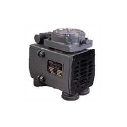 Diaphragm Vacuum Pumps Avail from us, Diaphragm Vacuum Pumps, which are appreciated for enhanced performance. These motor mounted pumps are absolutely oil free and does not require any kind of lubrication. Our maintenance free pumps are more preferred by the clients in comparison to the conventional reciprocating piston type air compressors and sliding vane type vacuum pumps. These pumps are hugely appreciated for features like zero environmental contamination through oil mist.     Salient Features:         Specially designed motor with continuous rating     Minimum Wear- perfectly designed Cam profile, hence ensures smooth running of parts with minimum wear     Specially designed heads- Heads are made of graded aluminum alloy castings and are internally powder coated to improve & strength the life of the pump     Available in single phase as well as three phase construction     Series/Parallel connections- Two headed models can be effectively connected in either series or parallel to give higher vacuum/pressure or higher flow rate     Cooler air output- As ambient air enters and leaves the head, it never goes near the motor to pick up heat and foreign matter     Cooler temperatures improve the overall efficiency     Compact design- due to their compactness, they are portable and ideally suited for original Equipment manufacturers     These pump operate on principle of reciprocating mechanism. These pump are totally ideal and are very ideal for oil free usage in non area. The exhaust of the pump is totally oil free and available in full range.