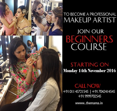 To become a Makeup Artist Join Beginners Course in Delhi Ncr  For more information login to www.themama.in  Mama - Masters Academy Of Makeup Art