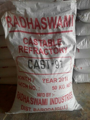 Radhaswami Industries are a leading manufacturers of Castable Refractory in Vadodara, Gujarat.  We are a leading supplier of Special Castables in Ankleshwar, Gujarat, India.  We also supply Bulk Quantity and Small Quantity of Refractory Castables in Ankleshwar, Gujarat, India.