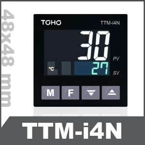 We are Leading Supplier For TOHO Make Temperature Controller (TTM-i4N),  Most Superior Controller with Advanced Multiple Functions. Self-Tuning PID Blind Function Simplified Timer Priority Display Multiple Inputs Standardization of Conformity Compact Size