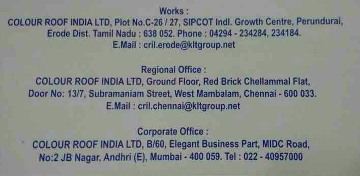 Contact Us Chennai. +917550075342 email. cril.chennai@kltgroup.net