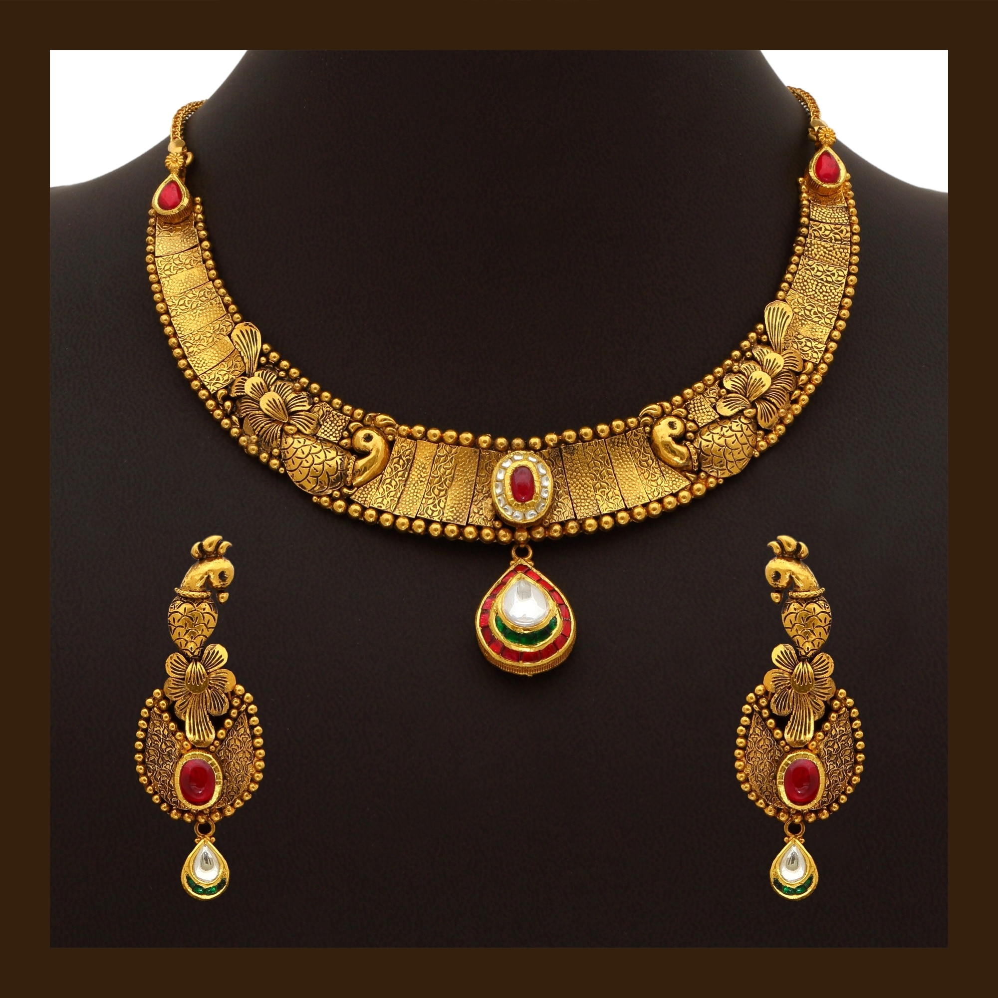 Buy 916 Gold Necklace Hallmarked For 20% lesser than MRP