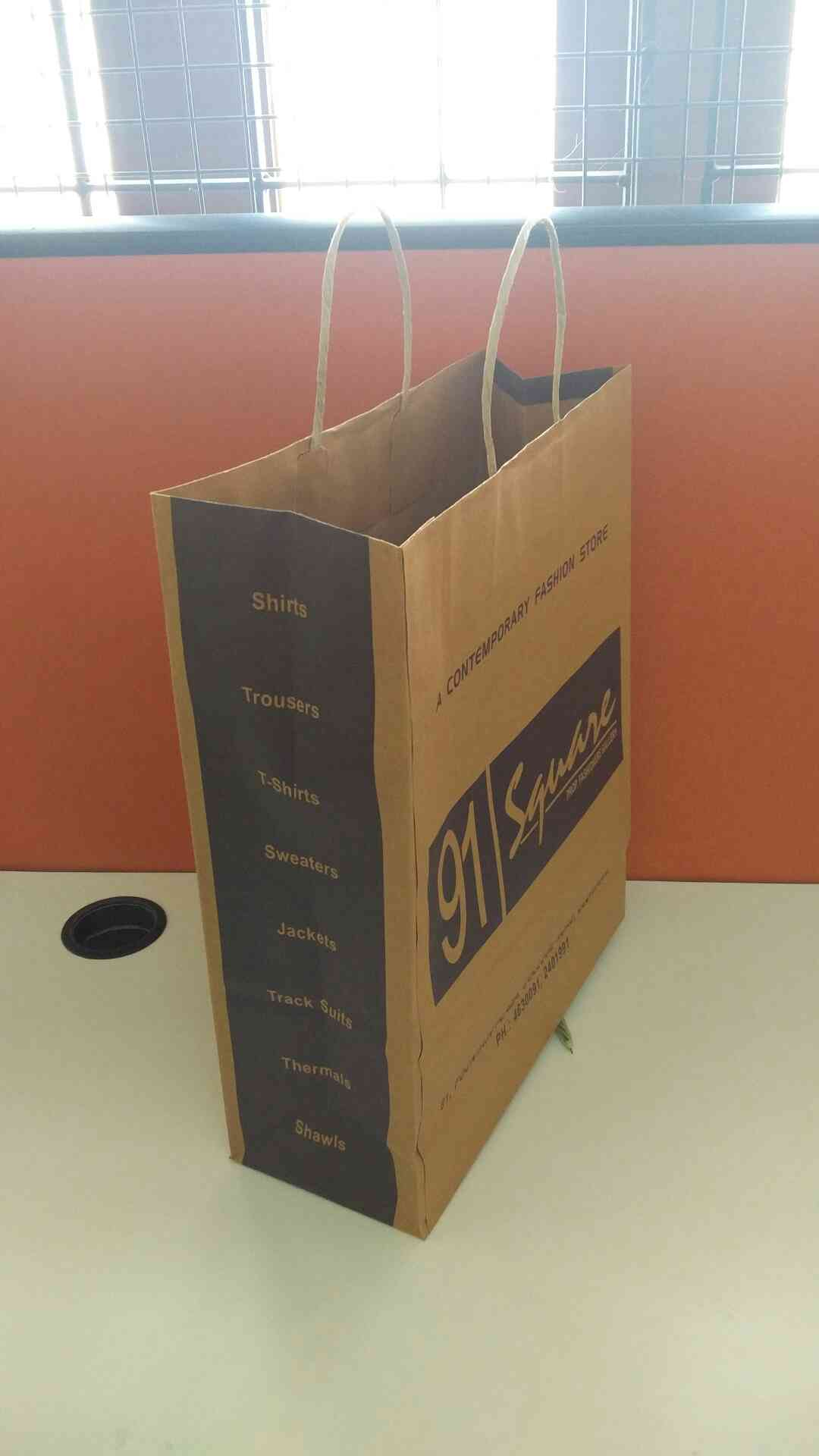 Paper bag with great strength