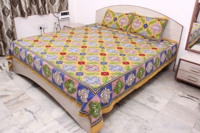 Cotton Bed Sheets are very comfortable and very soft against the skin. Because of the materials that were chosen this sheet set will keep you warm in the winter and cool in the summer.  we are manufacturer of Bed Sheets in Jaipur (Rajasthan)