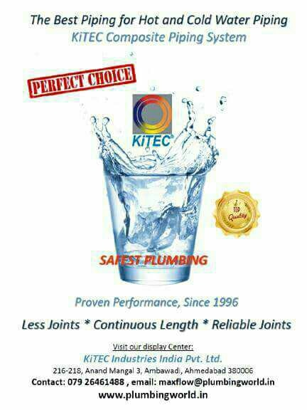 Kitec Composite Piping System For Plumbing Hot and Cold Start for Gas Piping for Air Condition FCU Piping and  for Air Condition Drain Piping