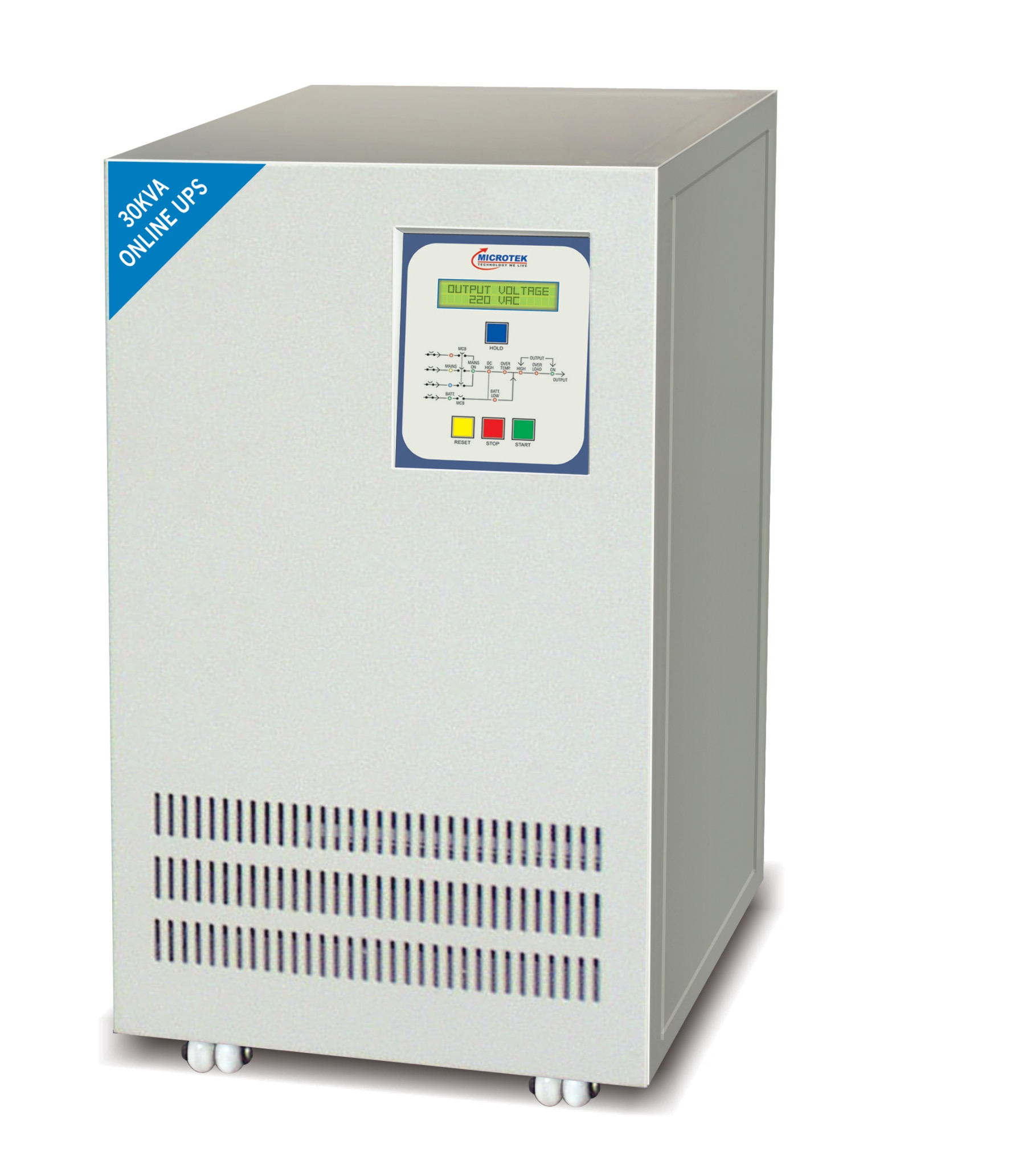 SuperMax-Series-I Capacity:5KVA to 30KVA Technology:Double Conversion High Freq. switching PWM, using IGBT's Battery: DC Voltage:180/360 VDC Mimic Control Panel:LED for UPS status and LCD for Voltage, Current & Frequency Audible Alarm:For Battery Low/DC High/Output High/Overload Communication Interface:RS232; SNMP(optional) Optional:Hot Stand By NM36MX1KK11-1B 1KVA / 800W NM36MX1KK11 1KVA / 800W NM72MX2KK11 2KVA / 1600W NM72MX3KK11 3KVA / 2400W SUPERMAX-SERIES-I SUPERMAX-SERIES-II Features Specifications Request for Home Delivery True Online Double Conversion Technology  High end IGBT based  High end Micro Controller  Automatic battery charging in UPS off mode  Wide Input voltage range  Advanced Battery Management  Short Circuit and Overload Protection  Hot Standby. (optional)  Galvanic Isolation  WE are best distributor for Microtek UPS at Delhi & NCR