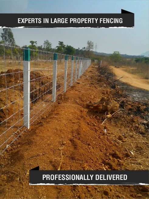 Are you worried about the illegal occupation at your property?  Leave your worries to 'The Large Property Fencing Experts' Evershine - India's largest fencing company.  Evershine offers robust and innovative fencing solutions to ward your property from any illegal occupation.   Fencing Services; -Barbed wire fencing -Chain link fencing -Over the compound wall fencing -Wild animals fencing -Precast Walls -Prestressed Precast walls -Solar fencing -Electric fencing  To know more about us, please call us on 1800-123-6495 or visit www.evershinefencing.com  Evershine - Your Fencing Partner
