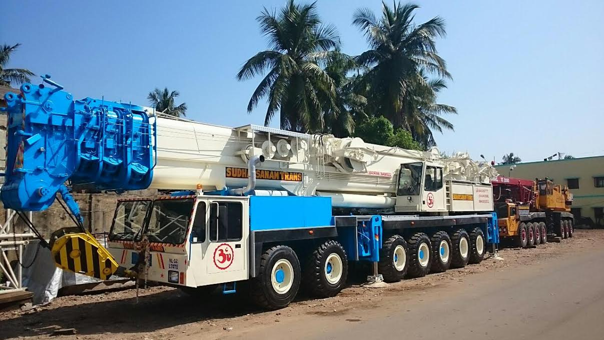 400 MT Telescopic Crane Demag HC-1020 Sudharsanam Cranes Parking Yard We are equipped with all types of cranes from upto 600MT