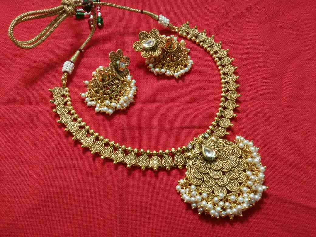 new antique polki necklace  we are doing manufacturing of fashion jewellery antique fashion jewellery polki necklace immitation jewellery manufacturing in malad polki jewellery in mumbai polki jewellery in india temple fashion jewellery coin jewellery manufacturing