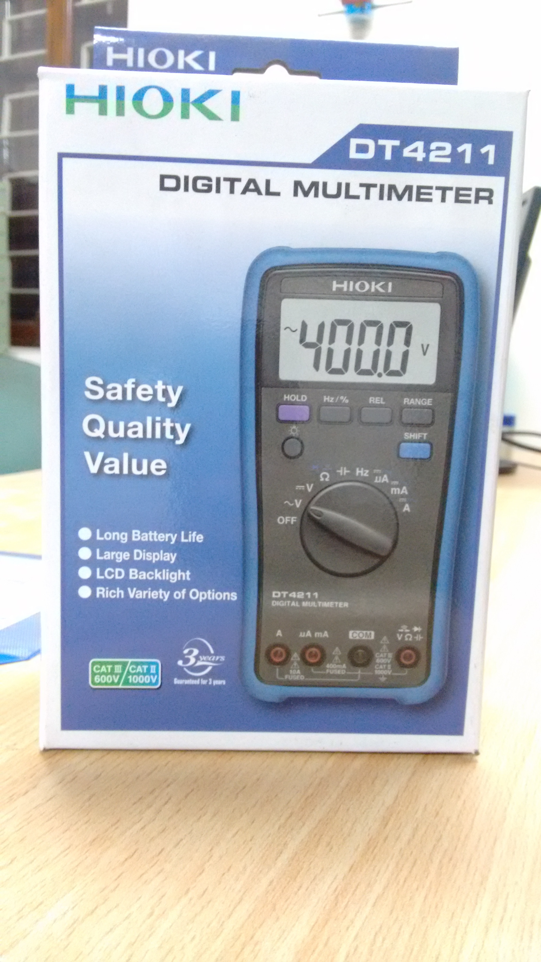 Digital Multimeter from HIOKI Japan. DT 4211. Belongs to the popular HiTester Series of DT42__. High Quality. Better than the competition. Only at Rs 4000.00