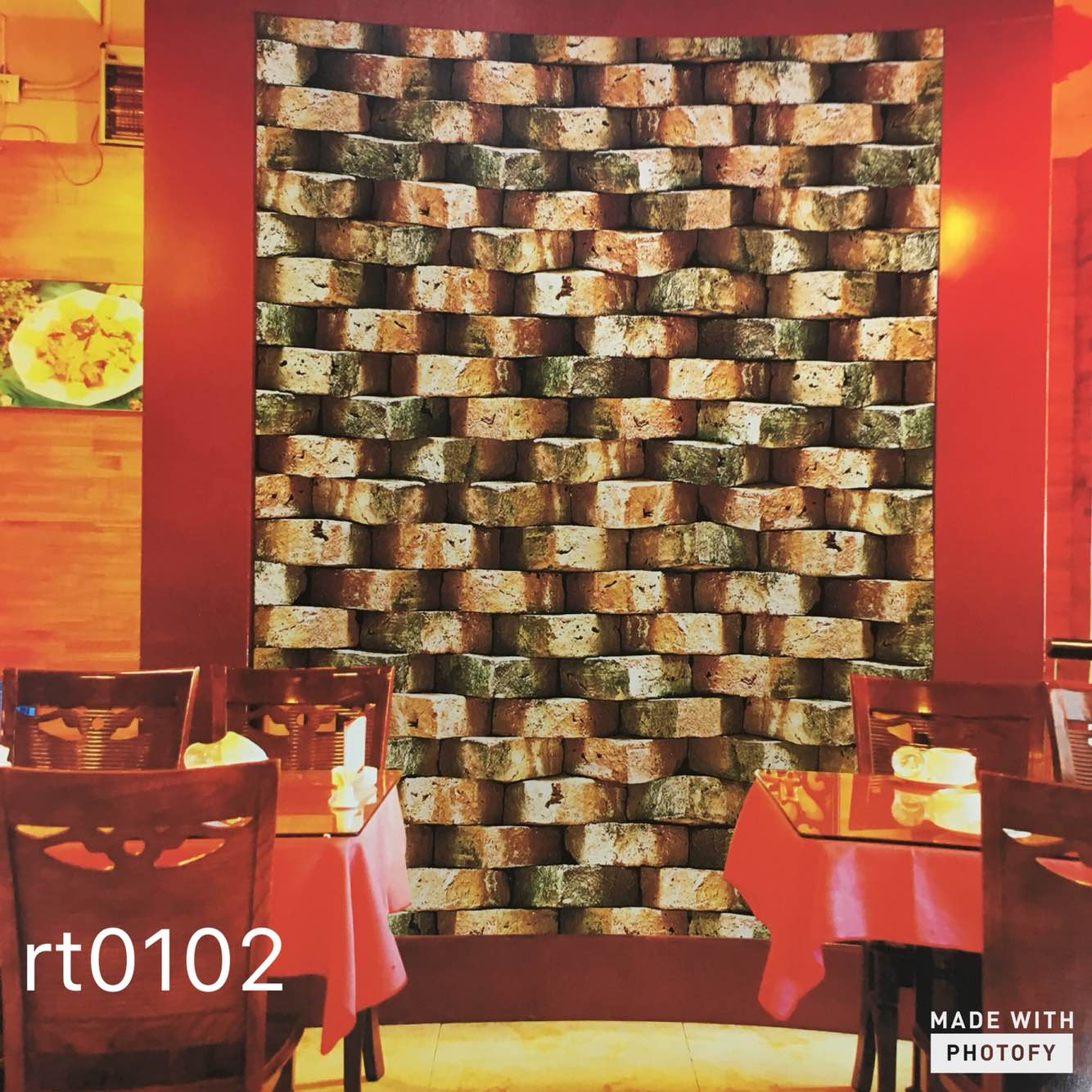 3d Wallpaper for Restaurant.  A 3d Effect Wallpaper gives you amazing look to your interior. It makes room very Beautifully.   A perfect world Wallpaper supplier in Delhi.  To buy call us   Wallparadise- Perfect world wallpaper in Ashok vihar Delhi.