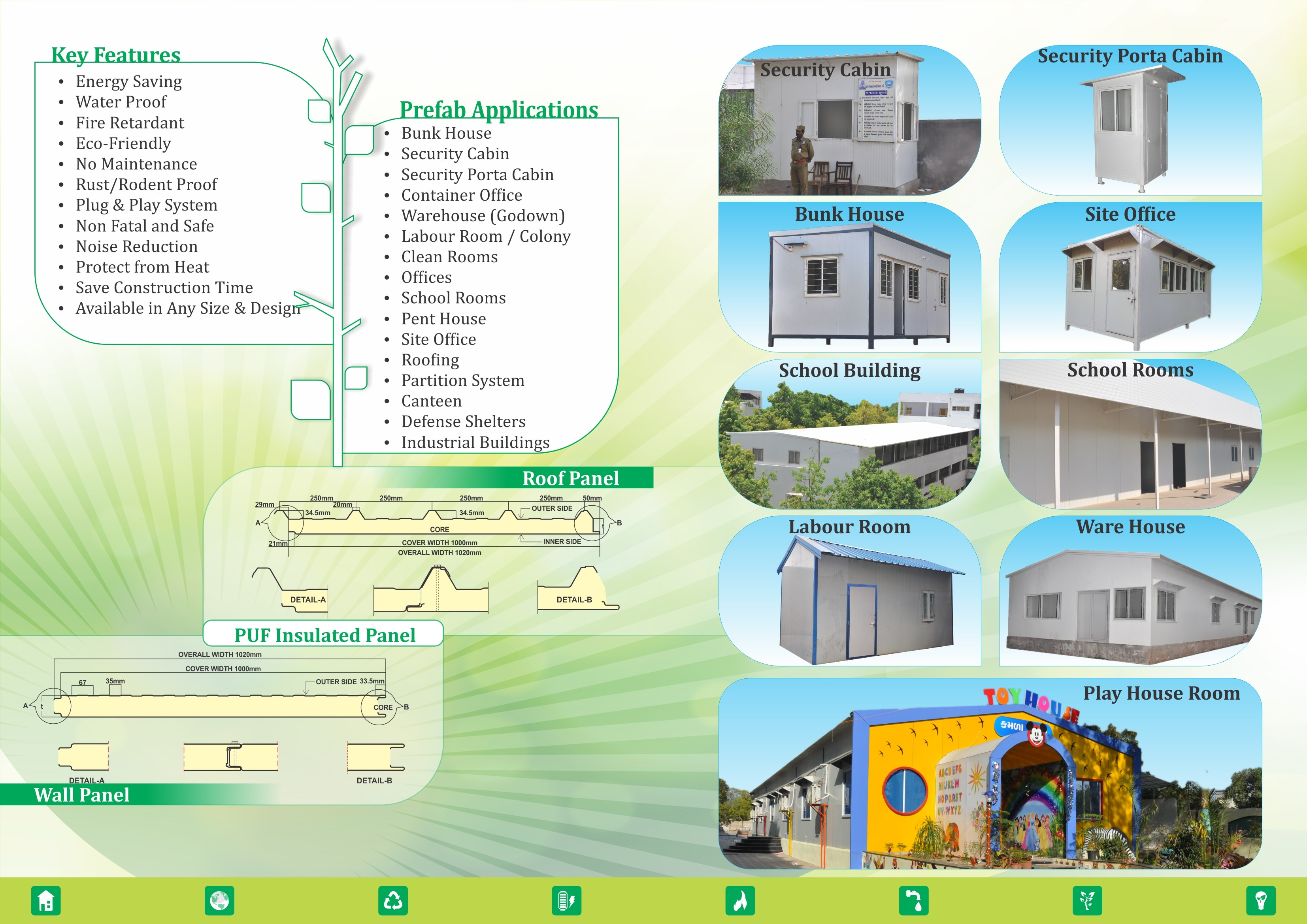 we are suppler of Prefabricated Home, Container Office, Bunkhouse, M.S. Bunkhouse, Security Cabin, Security Porta Cabin, Portable Cabin, Portable House, Mobile House, Prefabricated Farmhouse, Prefabricated  School Building in Gujarat