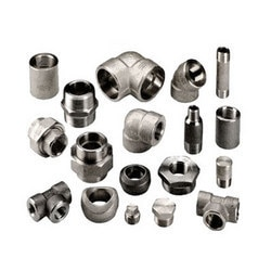INDUSTRIAL FITTING AND FORGING  We offer to our clients industrial fiiting and forging. These include forged fitting, dairy fitting, buttweld fittings, industrial forging. Product Description: We offer to clients forged fitting.  STAILESS & DUPLEX STEEL STAINLESS STEEL DUPLEX STEEL ASTM / ASME SA 182 F 304 , 304L , 304H, 309H, 310H , 316 , 316H , 316L , 316 LN , 317 , 317L , 321H , 347 , 347 H   ASTM / ASME SA 182 F 44 , F 45 , F51 , F 53 , F 55 , F 60 , F 61.    CARBON & ALLOY STEEL CARBON STEEL ALLOY STEEL   ASTM / ASME A 105.  ASTM / ASME A 350 LF 2 .    ASTM / ASME A 182 GR F 5, F 9 , F 11 , F 12 , F 22 , F 91. RANGE  15 NB UP TO 100 NB IN 2000 LBS , 3000 LBS , 6000 LBS & 9000 LBS , 150 LBS , 250 LBS.  FORM :: SOCKET WELD FITTINGS :: ELBOW 90 DEG , CROSS , TEE , ELBOW 45 DEG , COUPLING , HALF COUPLING & CAP  NICKEL & COPPER ALLOY NICKEL ALLOY COPPER ALLOY   ASTM / ASME SB 564 UNS 2200 ( NICKEL 200 ) , UNS 4400 (MONEL 400 ) , , UNS 8825 INCONEL (825) , UNS 6600 (INCONEL 600 ) , UNS 6601 ( INCONEL 601 ) , UNS 6625 (INCONEL 625) , UNS 10276 ( HASTELLOY C 276 ) ASTM / ASME SB 160 UNS 2201 (NICKEL 201 ) ASTM / ASME SB 472 UNS 8020 ( ALLOY 20 / 20 CB 3 )     ASTM / ASME SB 61 UNS NO. C 92200 & ASTM / ASME SB 62 UNS NO. C 83600.  ASTM / ASME SB 151 UNS NO. 70600 , 71500 , C 70600 ( CU -NI- 90/10) , C 71500 ( CU -NI- 70/30) , ASTM / ASME SB 152 UNS NO C 10100 , C 10200 , C 10300 , C 10800 , C 12000, C 12200.