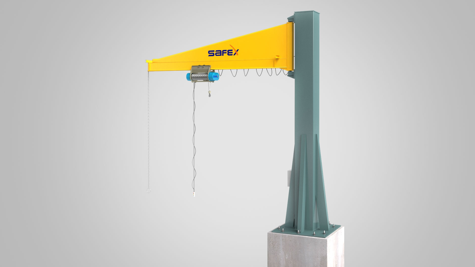 JIB CRANE Manufacturer : Safex Cranes is the Leading Manufacturer., Supplier and Exporter of JIB Cranes Across the Globe.