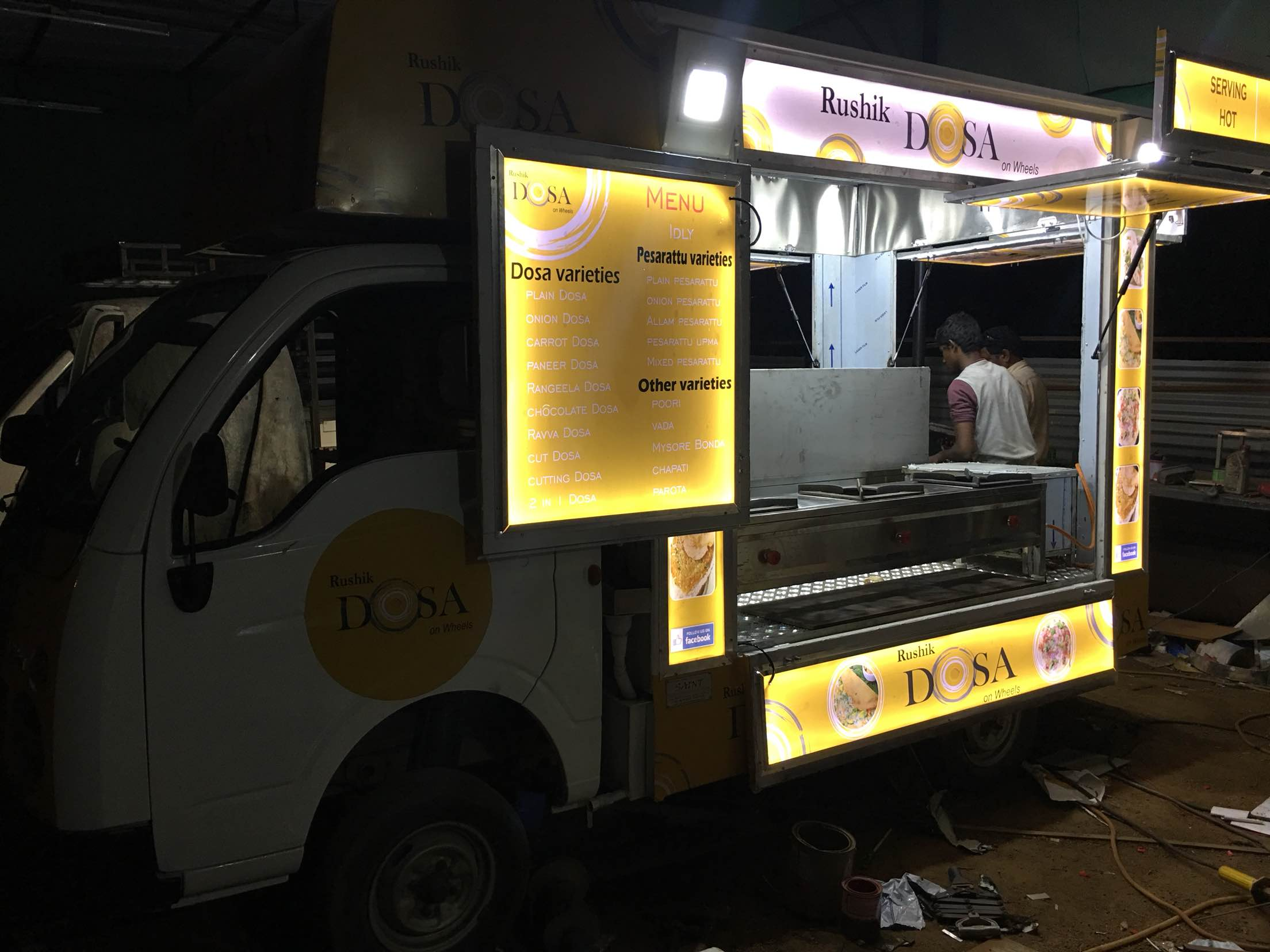 Recently delivered food truck to Kakinada.  First food truck in Kakinada.  Food truck manufacturers in Hyderabad.