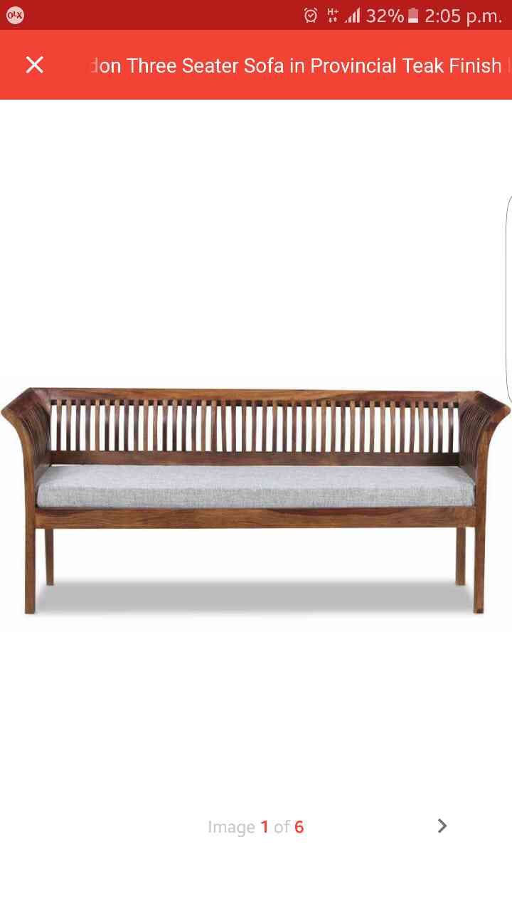 Three seater sofa at affordable rates, Solid Wood Sheesham Structure in Teak Finish gives contemporary Looks, Premium fabric with Sensitive touch Feel. Can accomodate 3 person at a time.   Simple Wood stripes shows wood character at its best.  One can buy this product @ 11399
