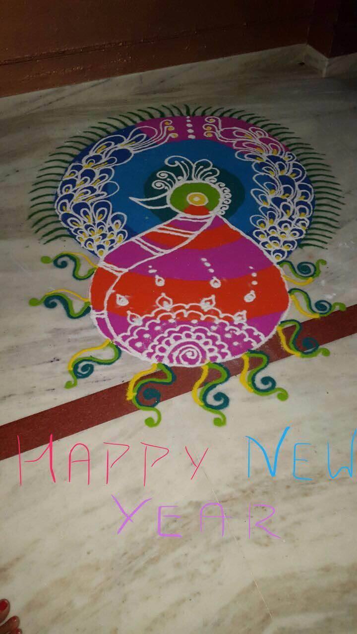 We wish your year like such colorful Rangoli